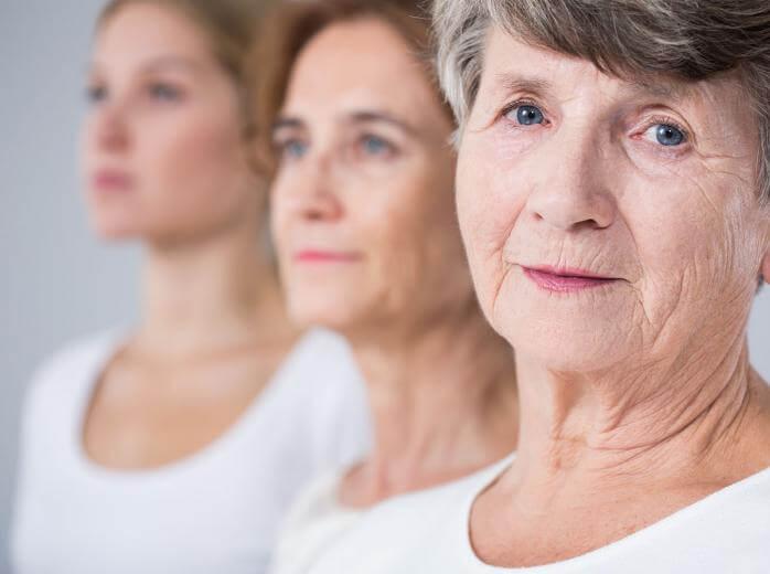 three women in white shirts