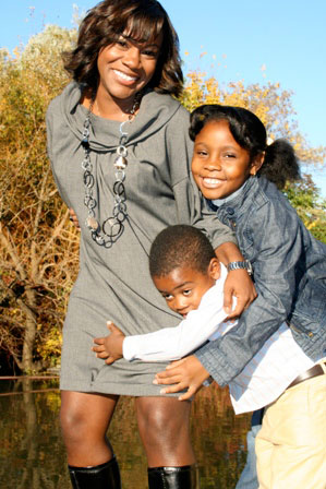 Kimberly Seals Allers and her children.