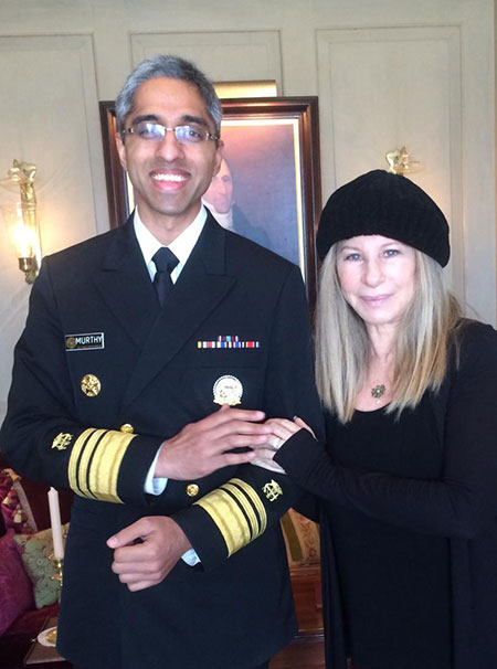 Barbra Streisand and Vivek Murthy